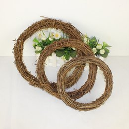 natural vines Canada - Christmas Leaf Wreath Natural Vine Pendant Garland Door Wall Christmas Tree Wreath Party Decoration For Home guirnalda navidad