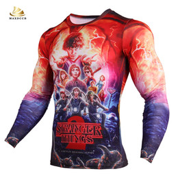 Sports T Shirts Design For Men Australia - New Stranger Things Men t-shirt long sleeve design 3d O Neck for outdoor sports gym yoga running and MMA UFO practise wearing