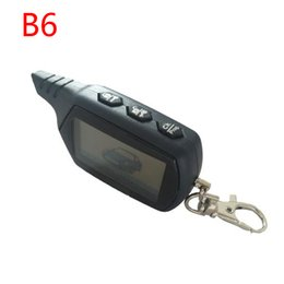 Security alarmS for carS online shopping - Keychain B6 Way LCD Remote Control Key Fob For Starline B6 Twage Russian Vehicle Security Two Way Car Alarm System