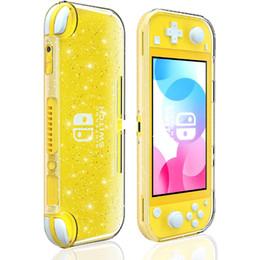 fluorescente caso della copertura soft shell caso di scintillio di cristallo per Nintendo interruttore Lite, trasparente lucido Sparkly TPU per switch Lite in Offerta