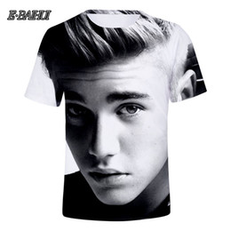 952f2b22d E-BAIHUI Famous Star Justin Bieber 3D T-shirt Men Women Tshirt 3D Print  Idol Tees Tops Cool Shirts Top Clothes Q0248