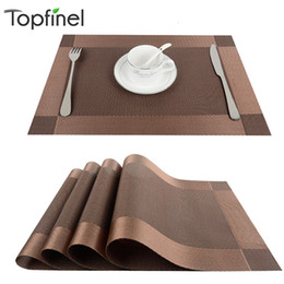 modern coasters Australia - Top Finel 4pcs lot PVC Decorative Vinyl Placemats for Dining Table Runner Linen Place Mat in Kitchen Accessories Cup Coaster Pad T191031