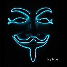 $enCountryForm.capitalKeyWord Australia - Neon Mask V for Vendetta Mascara Led Guy Fawkes Masque Masquerade Masks Party Mascara Halloween Glowing Masker Light Maska Scary EEA322