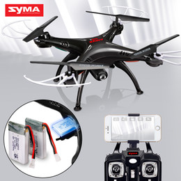 Flashing Helicopter Toy Australia - SYMA Official X5SW Drones with Camera HD WiFi FPV Real Time transmission RC Helicopter Quadrocopter RC Dron with Extra Battery