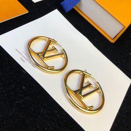 Wholesale luxury designer jewelry women earrings Gold circle designer earrings top quality high-end elegant street style hoop stud for girl fashion