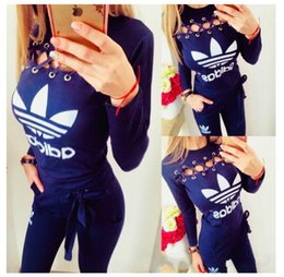 art chickens Australia - Women Sports Set Sweatsuit Outfit 2 Piece Set Bodycon spring and autumn Clothing Chicken Eye Women's Suit