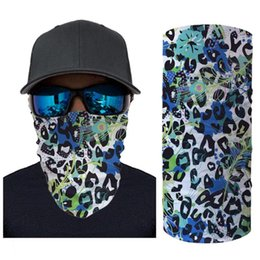 anti dust caps Australia - HYCOOL Sport Seamless Scarf Leopard Pattern Printed Anti Dust Face Cover Mask Mutifunctional Bandana Cycling Headband Tube Scarf