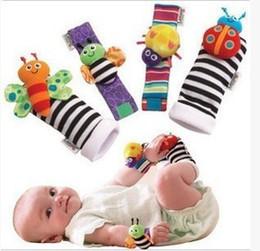 Baby Rattles Australia - 2018 new Baby socks Rattle Socks sozzy Wrist rattle & foot finder Baby toys Lamaze Wrist Rattle+Foot