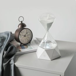 hourglass timers minute NZ - Originality Diamonds Hourglass Lamp Usb Charge Bedroom Bedside Lamp Colorful With Sleep Small Night-light 15 Minute Timer