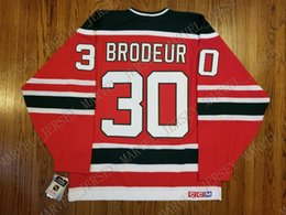 Brodeur Jersey Xl Australia - Cheap custom Marty Brodeur Vintage New Jersey Devils CCM Jersey Christmas Tree Green Stitched Retro Hockey Jersey XS-5XL
