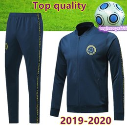 Chinese  New 2020 Colombia soccer tracksuit zipper jacket Thai quality 2019 20 colombia football training suit FALCAO JAMES soccer jacket pants manufacturers