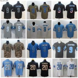 Usa flag jersey online shopping - Detroit Lions Football Matthew Stafford Jerseys Men Blue White Barry Sanders Vapor Untouchable Salute to Service Army Green USA Flag