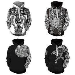 hip hop tattoo sleeve 2019 - QNPQYX winter Fashion Men hoodies 3D All Over Printed Viking Tattoo hip hop Hoodies costume Unisex Casual Tracksuit stre