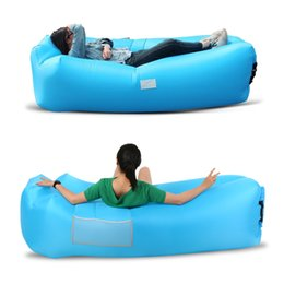 $enCountryForm.capitalKeyWord Australia - Inflatable Sofa Inflatable Lounge Self-inflating Air Sofa Sleeping Couch Built-in Pillow for Backyard Lakeside Beach Camping