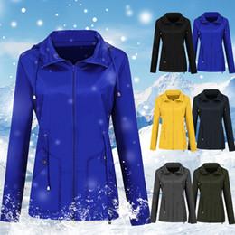 $enCountryForm.capitalKeyWord Australia - Women Casual Jackets Plus Size Solid Color Windproof Rainproof Windbreaker Hooded Coat Jackets Autumn Women Zipper Coats 3XL
