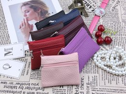 Coin bag korean online shopping - 10 colors New Korean solid colors wallet purse short wallet women men children functional zipper leather coin PU bag