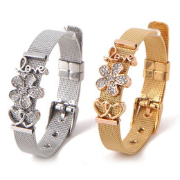 Mesh Jewelry Australia - Fashion Women Stainless Steel Mesh Keep Charms Bracelet STRAP LOVE HEARTS Rose Gold Jewelry Ladies Bracelets