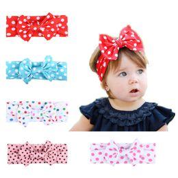 $enCountryForm.capitalKeyWord Australia - Europe and America Hot Cute Dot Print Bow Hair Band Baby Headdress Milk Silk Children's Headband Wholesale