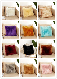 $enCountryForm.capitalKeyWord Australia - Rosequeen 40*40cm 45*45cm Long Plush Cushion Cover Warm Soft Square Sofa Car Nap Throw Pillow Case Home Decor Household Supplies