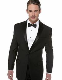 Images Fashionable Suits Australia - New Fashionable Groom Tuxedos Groomsmen Two Button Black Notch Lapel Best Man Suit Wedding Men's Blazer Suits (Jacket+Pants+Tie) 1267