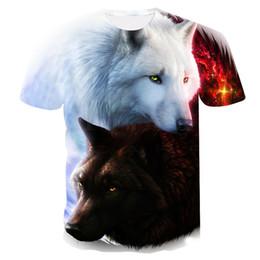 $enCountryForm.capitalKeyWord Australia - 2018 flame Wolf printed 3D T shirts Men T-shirts New Design Tops Tees Short Sleeve Shirt Summer Animal Drop ship