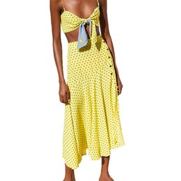 c5f708e8c Puff Skirt Top NZ - Summer Skirt Set 2019 Casual Yellow Crop Top Womens  Clothing 2