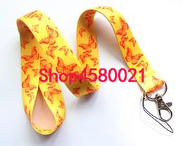 $enCountryForm.capitalKeyWord Australia - 10pcs zebra Butterfly pattern Neck Strap Lanyards for key Chains ID Card Mobile Phone Strap USB Badge Holder Rope Pendant #285