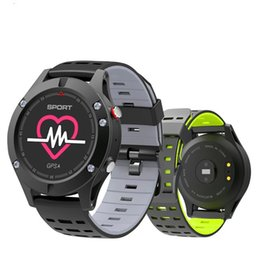 smartwatch heart rate gps UK - NO.1 Smart Watch IP67 Heart Rate Monitor GPS Multi-Sport Mode OLED Altimeter Bluetooth Fitness Tracker Android iOS F5 Smartwatch BA