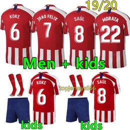 c401d84b New Atletico de Madrid soccer jersey men and kids 2019 2020 Maillot de foot  19 20 football jerseys Madrid kids football kits