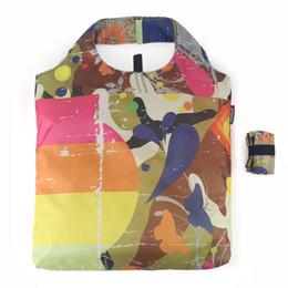 $enCountryForm.capitalKeyWord Australia - NAVO Brand Foldable Reusable Shopping Bag Eco Friendly Fashion Grocery Bag Polyester Fabric Women Girls Shoping Tote Bags