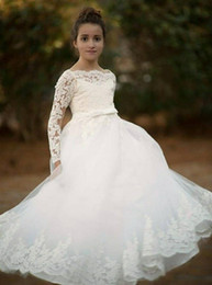 $enCountryForm.capitalKeyWord Australia - 2020 Mermaid Lace Flower Girl Dresses for Weddings Ivory Kids Evening Dress Holy Communion Dresses For Girls Pageant Gowns