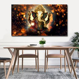 $enCountryForm.capitalKeyWord Australia - Indian Style Ganesha Canvas Painting Cheap China Wall Art Pictures,Dropshipping Posters Prints,cuadros decoracion pictures art