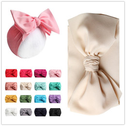 Headbands Bow Australia - 7inch Baby Bows Headbands Bowknot Hair Wraps Butterfly Knot Multicolor Hairbows Hoops for Newborn Toddlers Girls Party decora 2019 A42202