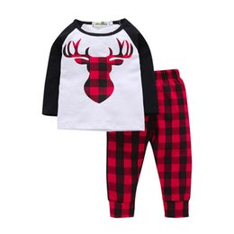 Toddler Deer Australia - good quality 2019 Baby Girls Spring Autumn Clothes Sets Full Sleeve O-Neck Lovely Deer Striped Outfit Toddler Sets Cotton Kids Wear