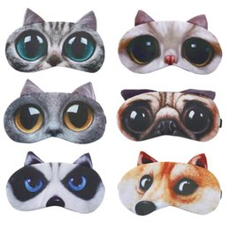 Shades Christmas Australia - Lovely 3D Animal Meow Star People Eye Mask Soft Cotton Sleep Rest Travel Eye Mask Shade Women Girls Cute Blindfold Creative Gift
