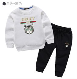 $enCountryForm.capitalKeyWord NZ - Children's cotton printed shirt fashion loose sports suit trend hoodie quality sweater baby clothes summer short-sleeved T-shirt