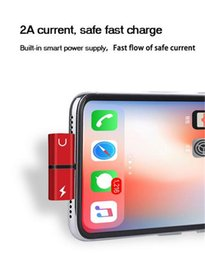 I Cables Australia - 2 in 1 Audio Adapter For i 7 8 Plus X Connector Splitter Charger Headphone Adapter Jack to Earphone AUX Cable