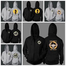 Mantle Clothes Australia - Hoodies Sweatshirt Goku Zipper Jacket Print Streetwear Clothing Large 4XL Mantle Poleron Hombre Unisex Drop Shipping