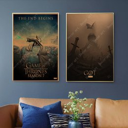 China Retro Game of Thrones Season 8 Canvas Painting Vintage Wall Kraft Posters Coated Wall Stickers Home Decor Pictures Gift suppliers
