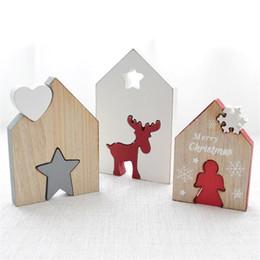 $enCountryForm.capitalKeyWord Australia - 2019 Good Sale Wood Pendant Vintage Elk Decorations Christmas Decoration Ornaments Wooden Diy Crafts Mini Christmas Tree