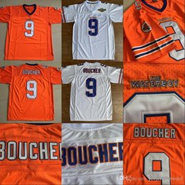 $enCountryForm.capitalKeyWord Australia - Mens #9 Bobby Boucher The Waterboy Movie Jersey Stitched Mud Dogs Football Jerseys Orange White Top Quanlity Size S-3XL