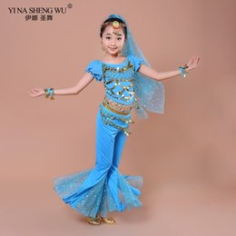 kids bollywood costumes NZ - BellyDance Children Costume 3pcs Bellydance Costumes Kids Belly Dancing Top For Girls Bollywood Performance Set New