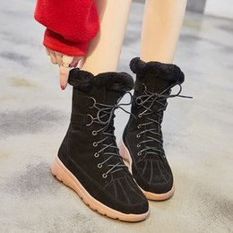 Purple Martin Boots Australia - 2018 Casual Shoes Women Fashion Brand Snow Boots Lady chaussure Winter Female footware with Fur Cross-tied with Fur