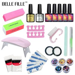 $enCountryForm.capitalKeyWord Australia - Belle Fille Set Dryer Nail Gel Polish Soak Off Manicure Products Lasting Gel Nail Polish Kit For Art Tools 02