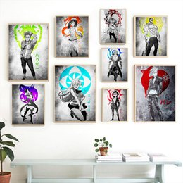 Discount anime room decor - The Seven Deadly Sins Nanatsu no Taizai anime Home Kids living Room Bedroom Decor Print Poster Picture Painting Wall Art