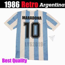 Thailand Shirts Australia - 1986 1978 Argentina retro classic vintage DIEGO MARADONA jersey Soccer jersey Camisa de futebol jersey Adult football Shirt THAILAND QUALITY