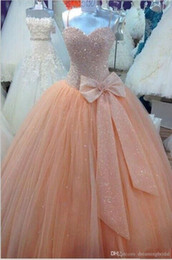 $enCountryForm.capitalKeyWord NZ - Sparkly Spaghetti Straps Beaded Ball Gown Prom Dresses Real Picture Tulle Floor Length Sleeveless Puffy Long Prom Dress 2019 SP348