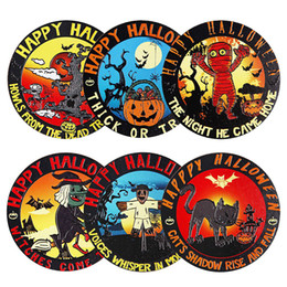 Eco Fiber Australia - 14 Design Cork Wood Coaster Eco-friendly Heat-resistant Halloween Christmas Cartoon Print non-slip Cup Table Bowl Mats Pads Durable Coasters