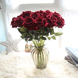 $enCountryForm.capitalKeyWord Australia - 10pcs lot Decor Rose Artificial Flowers Silk Flowers Floral Latex Real Touch Rose Wedding Bouquet Wedding Party Home Decor