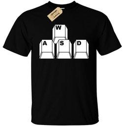 Funny nerd shirts online shopping - WASD Keyboard Keys Mens T Shirt Funny geek nerd gamer computer pc gift